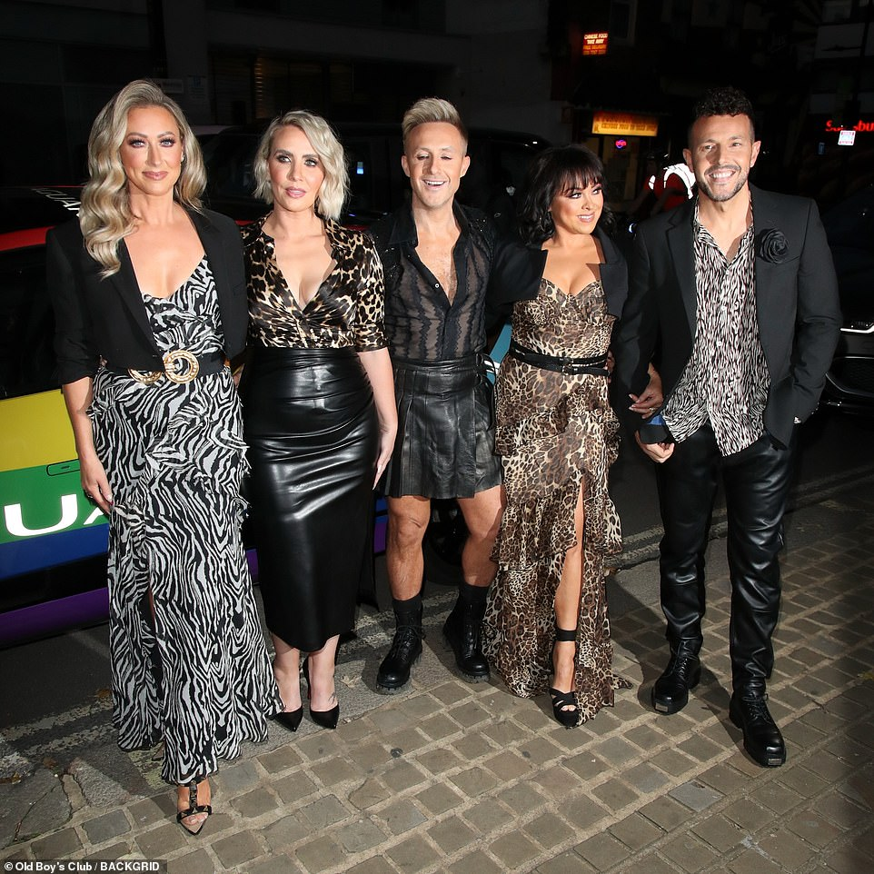 Reunion: Steps starsLisa Scott Lee, Ian Watkins, Claire Richards, Lee Latchford-Evans and Faye Tozer were also in attendance