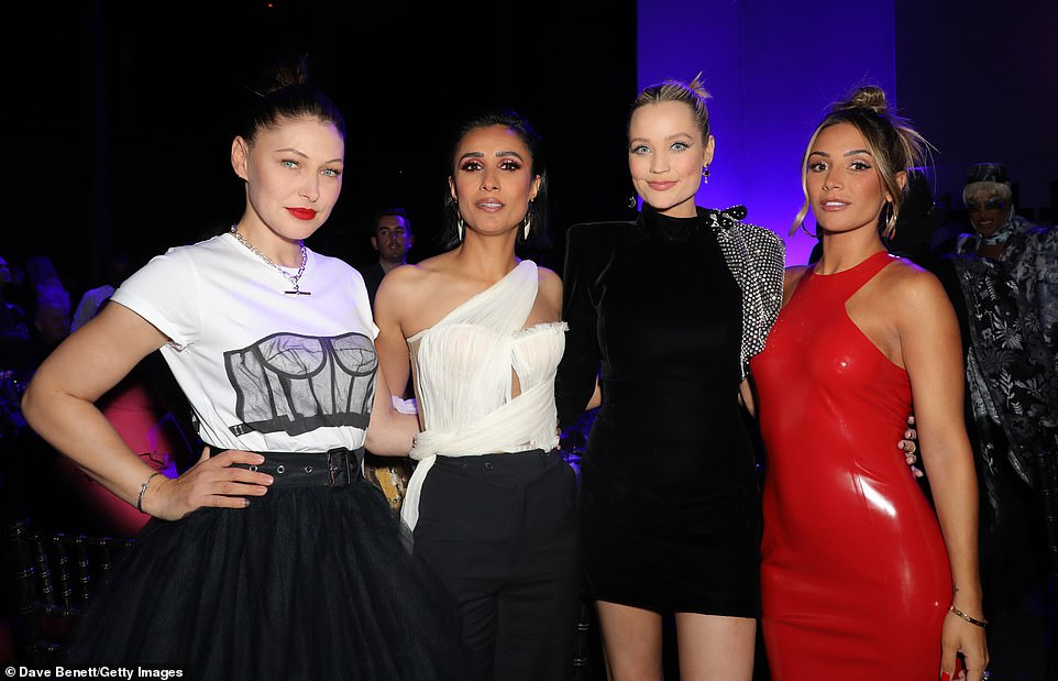 Together:(L-R) Emma Willis, Anita Rani, Laura Whitmore and Frankie Bridge caught up at the event
