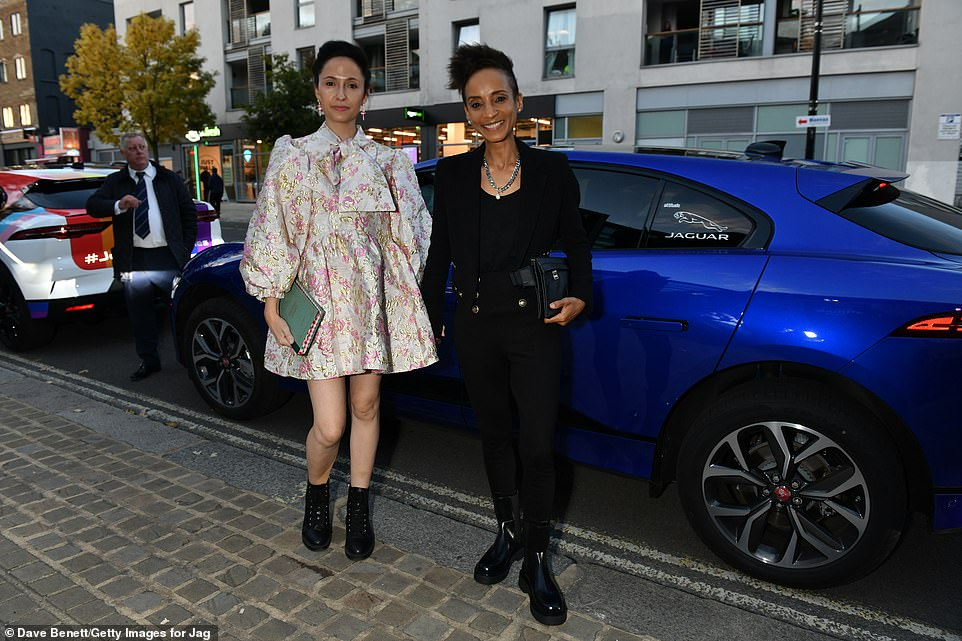 Night out: Kate Holderness (L) and Adele Roberts looked great as they arrived