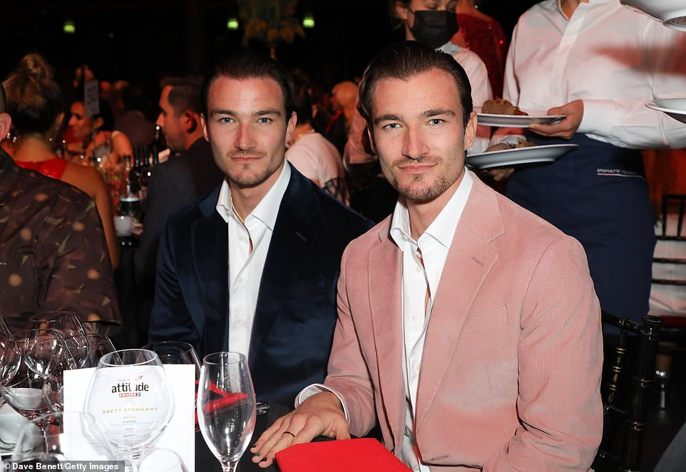 Double trouble:Love Island's Brett Staniland and his brotherScott were invited along to the awards