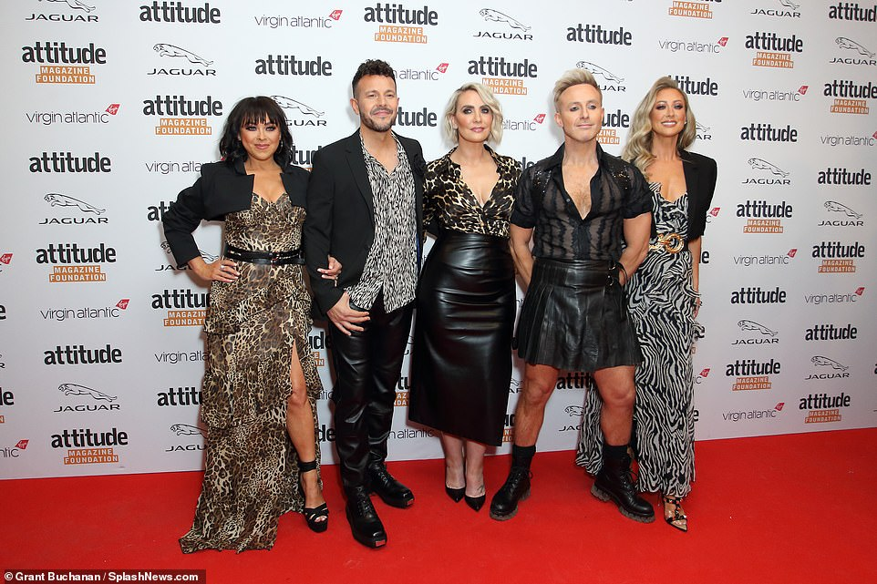 The gang! The Steps stars looked as happy as ever to be reunited on the red carpet
