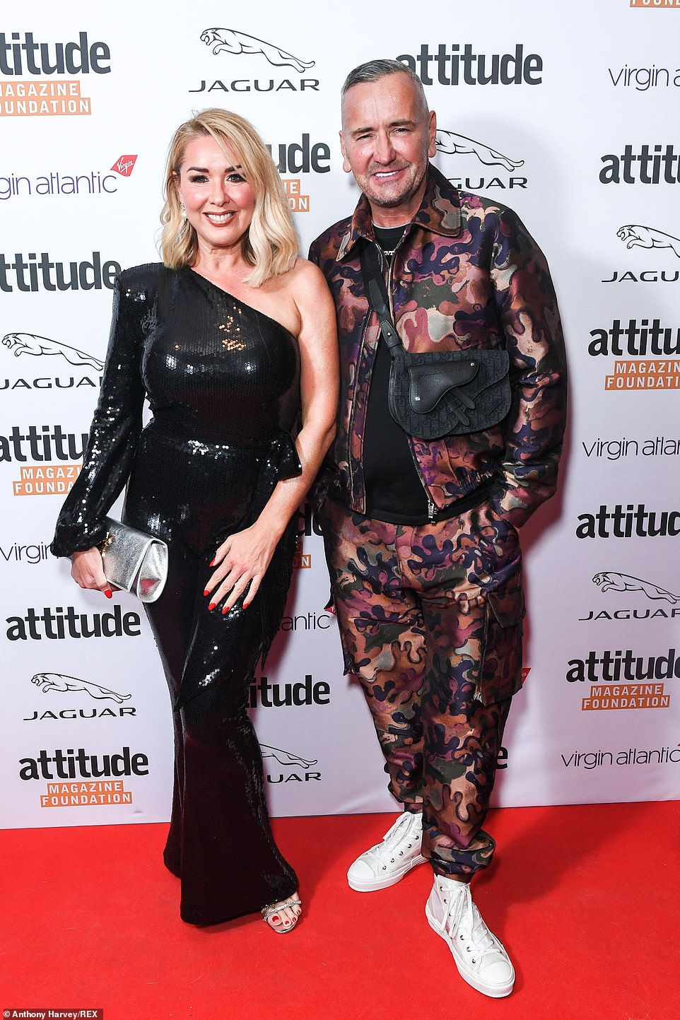 Quirky: DJ Fat Tony showed off his sense of style in a gold suit as he posed with a glamorous lady
