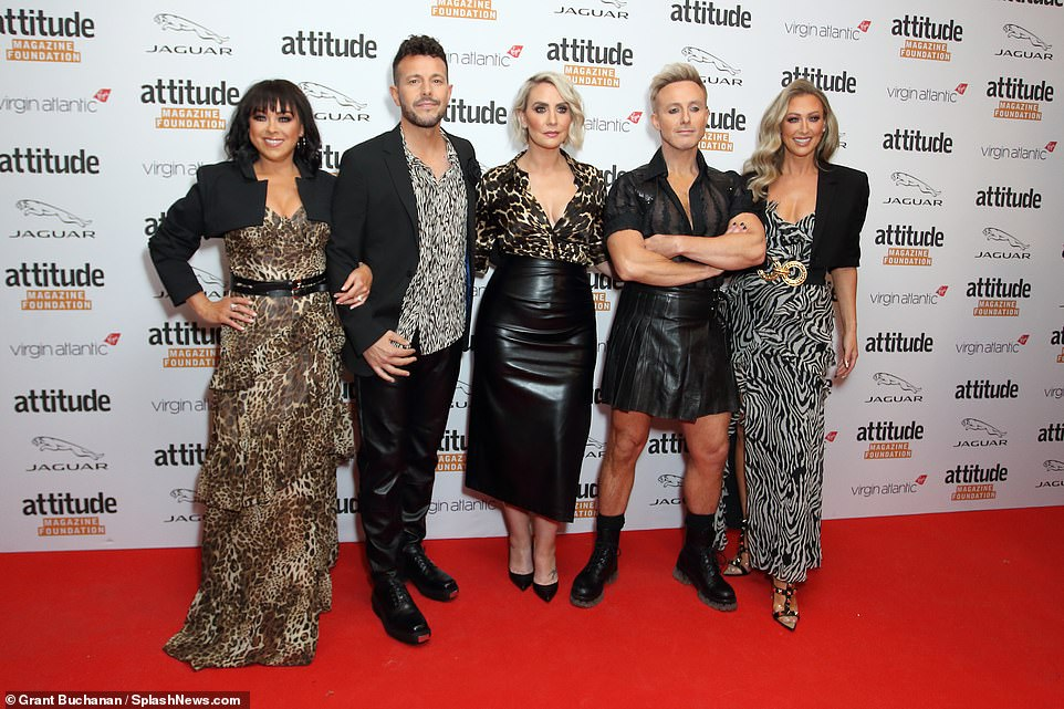 Iconic band: Steps reunited on the red carpet