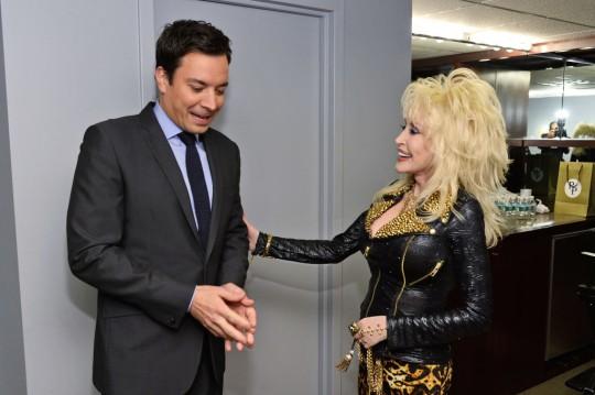 Dolly Parton and Jimmy Fallon