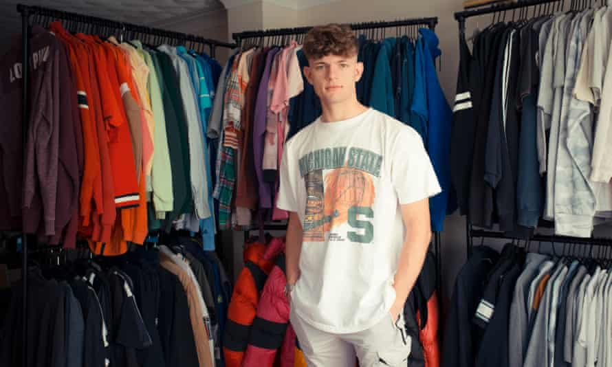 Evan Sellick, 16, student and Depop reseller from Cwbran, south Wales.
