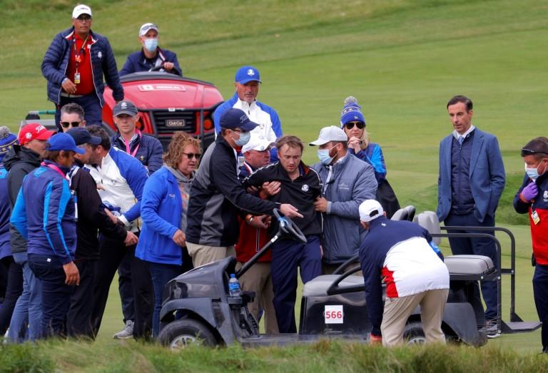 Tom Felton collapses during golf