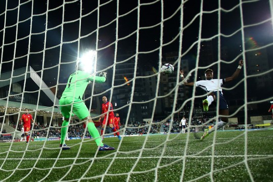 Tammy Abraham scored England's third goal in a 5-0 win over Andorra
