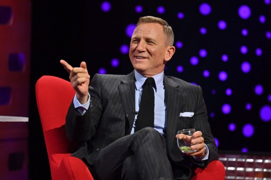 EDITORIAL USE ONLY Daniel Craig during filming for the Graham Norton Show at BBC Studioworks 6 Television Centre, Wood Lane, London, to be aired on BBC One on Friday. Press Association Photo. Picture date: Thursday September 23, 2021. Photo credit should read: Matt Crossick/PA Wire