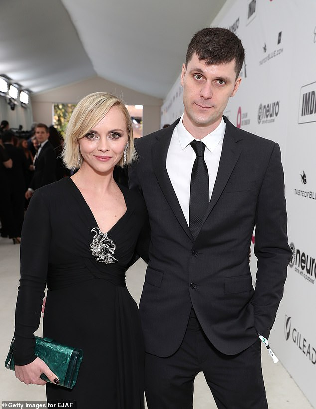 Agreement: Christina Ricci and ex Heerdegen have reached a custody arrangement which will let their six-year-old son Freddie live with his mother in Vancouver, Canada while she shoots a project. His father will have visitation. They're seen in 2019 above