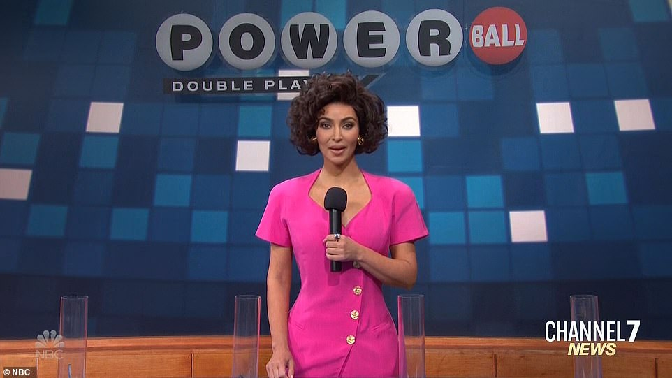 Whoops:Kim was playing Shonda, who did the Powerball drawing, except that there was a letter that shouldn't have been there