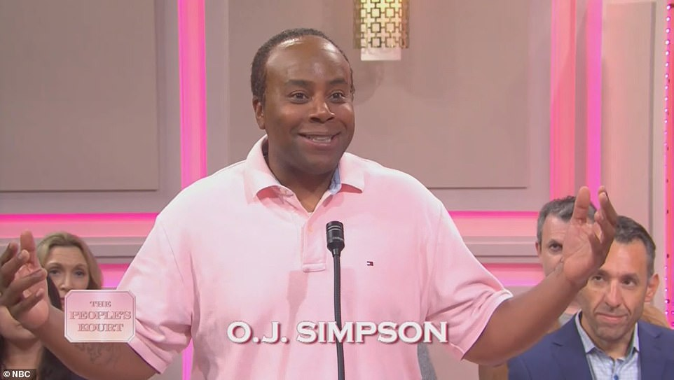 Awkward!The last case on the docket was O.J. Simpson's, with Kenan Thompson playing him. 'Hey, how come you don't invite me to anything anymore?' he joked