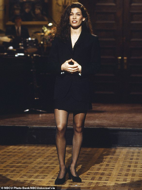 Nancy Kerrigan onstage during the monologue March 12, 1994