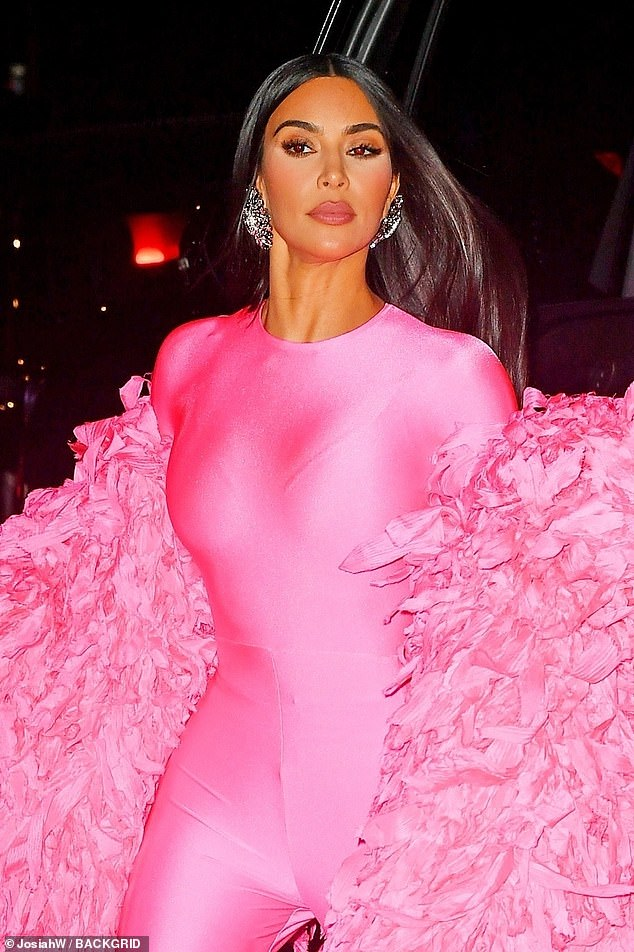 Never-ending night: The KUWTK star, who is being praised on social media for her surprisingly hilarious performance, was on her way to the sketch comedy show's afterparty in NYC
