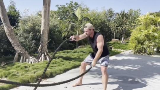 Chris Hemsworth has gruelling workout despite feeling 'dusty'