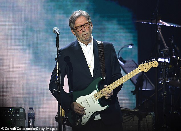 A pattern: Clapton previously said he wouldn't play at any venues that require proof of vaccination; seen in March in London