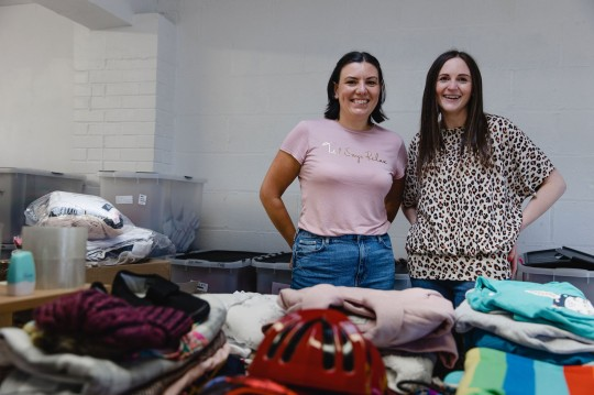 Anna Cargan - Buildabundle - and fellow director Nathalie LEFT TO RIGHT: Nathalie Redfern in the left in the light pink t-shirt, and Anna Cargan on the right in the leopard print top