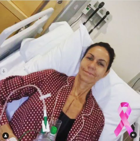 Julia Bradbury in hospital after surgery