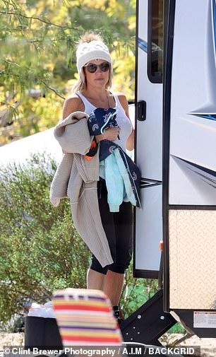 Camping: They stayed in an RV while enjoying the festival with her mom, Dr. Deb