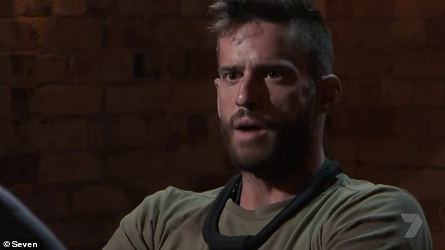 'He comes across as a bit of a d**k. Is he really like that?' Kochie directed the insult at actor Dan Ewing (pictured), who has a reputation for bratty behaviour on the military-style reality show