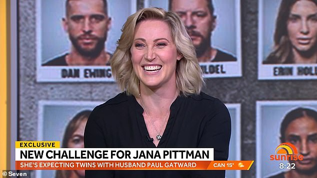 Pointed question: While interviewing the show's latest evictee, Olympic runner Jana Pittman (pictured), Kochie asked her if Dan was 'weird' and a 'd**k' in real life