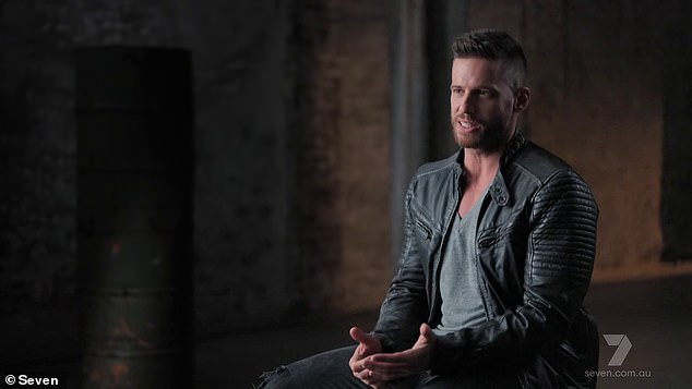 Making headlines: Fans had mocked the actor after he bizarrely referred to himself in the third person during his introductory video package. 'Stepping into SAS selection is quite interesting undertaking. There's no acting. This is Dan Ewing,' he said