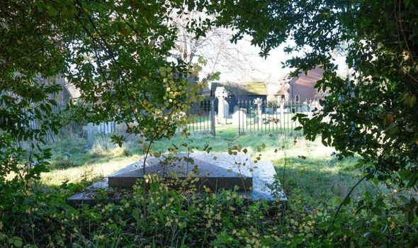 Haunted churchyard in Pluckley