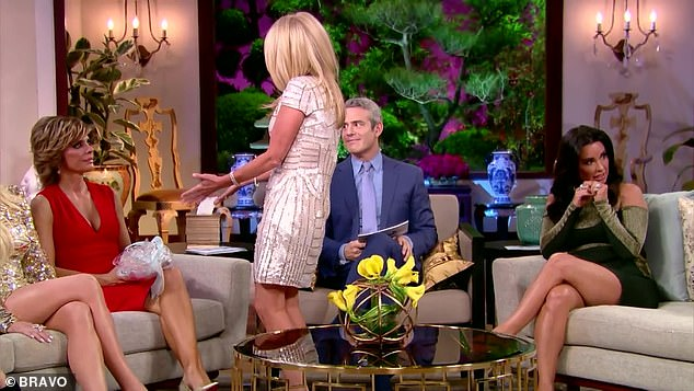 Bunny-gate:Andy Cohen asked what happened to the bunny that was gifted, prompting Kim to respond: 'Well Lisa, I brought the bunny because I never gave it to my grandson, cuz it didn't feel like it had good energy ¿ sorry'