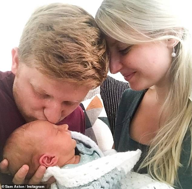 Adorable:The sweet news comes 14 months after they welcomed their son Sonny - who was born six weeks prematurely last August