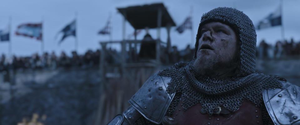 Matt Damon as Jean de Carrouges in The Last Duel (20th Century Studios/PA)