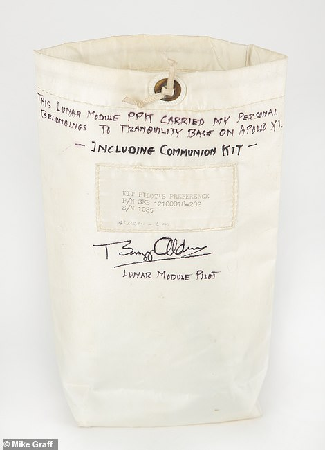 Aldrin, part of the Apollo 11 mission, was the second man to walk on the moon when he stepped out of the Lunar Module Eagle on July 20, 1969 and along for the ride was his Personal Preference Kit (PPK) that is up for auction.