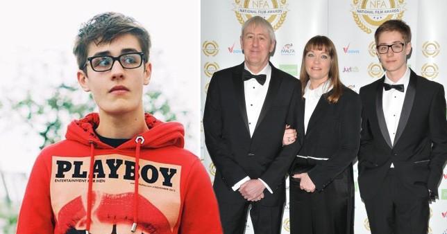 Archie Lyndhurst, and with dad Nicholas Lyndhurst and mum Lucy Lyndhurst