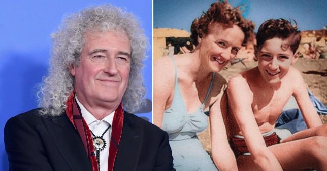 Brian May and mum