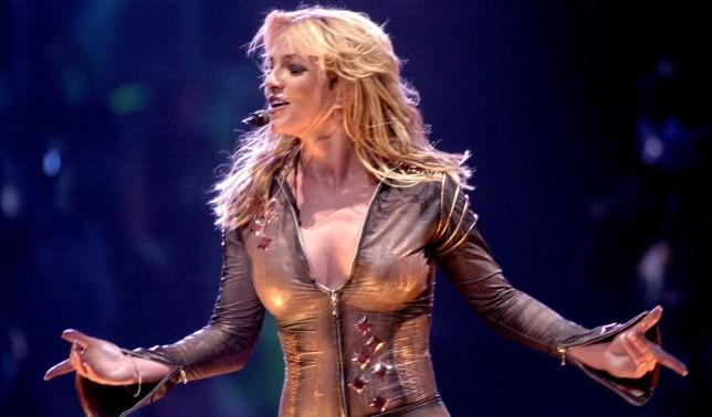 Britney Spears performing