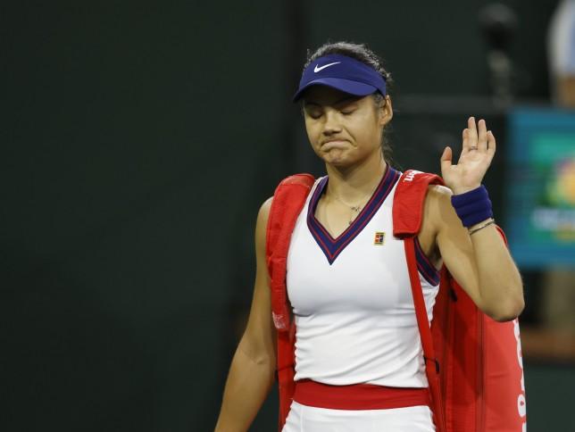 Emma Raducanu was beaten by Alaksandra Sasnovich at Indian Wells