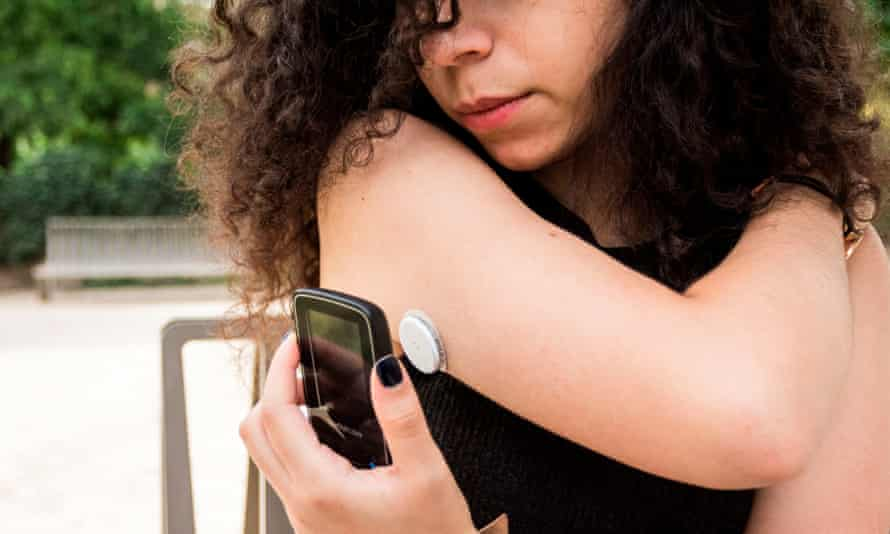 Sugar rush … diabetics now test their glucose levels with sensors.