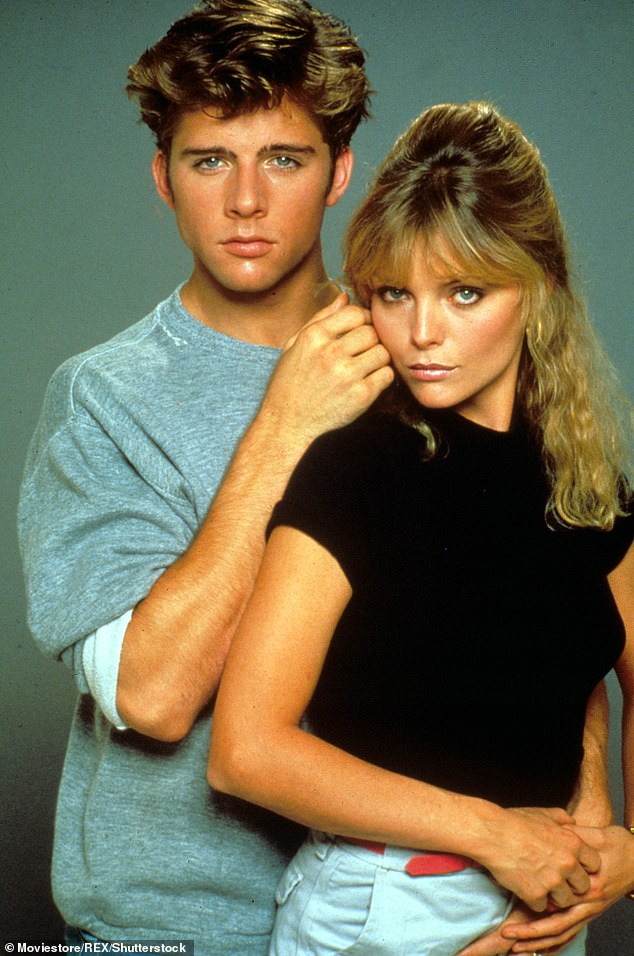 'It was, psychologically, quite a kick in the pants': Maxwell Caulfield (L) and Michelle Pfeiffer (R) were newcomers when they were cast in Grease 2 and, when the film bombed in 1982, only one of their careers flourished