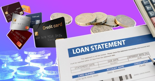 A comp of a loan statement and creidt cards