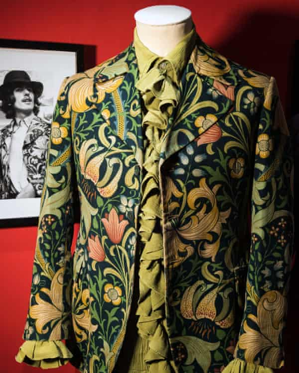 A vintage 1960s William Morris golden lily print jacket by Granny Takes a Trip.