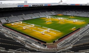 Savannah Marshall & Lolita Muzeya Media Day<br>Boxing - Savannah Marshall & Lolita Muzeya Media Day - St James' Park, Newcastle, Britain - October 14, 2021 General view of the pitch at St James' Park before the media day Action Images via Reuters/Lee Smith