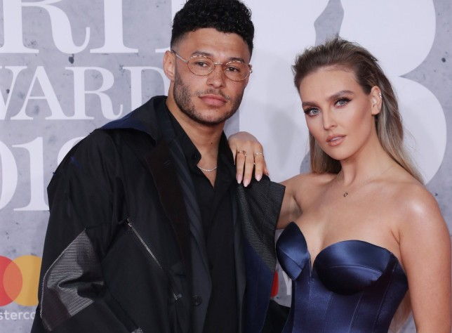 Alex Oxlade-Chamberlain and Perrie Edwards
