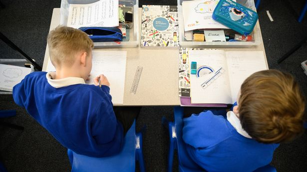 Schools had to help pupils with food and clothes during the pandemic (file photo)