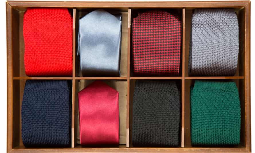 Box of neck ties