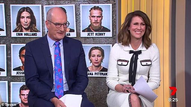 Awkward!Sunrise host David 'Kochie' Koch (left, with Natalie Barr) had a rather bizarre outburst on Tuesday when he called an SAS Australia recruit 'a bit of a d**k'