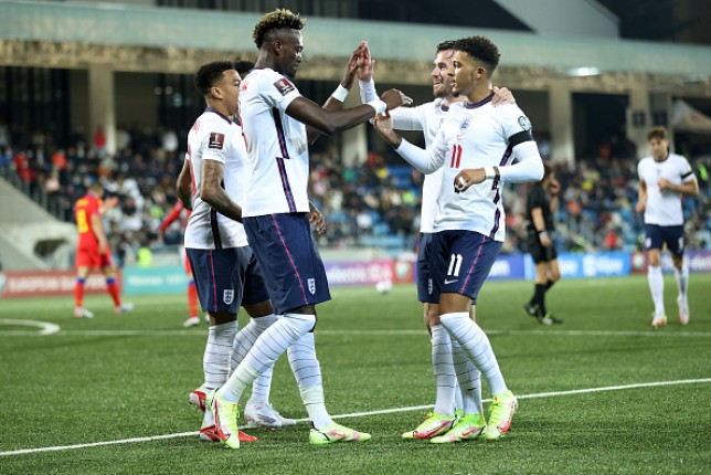 Tammy Abraham and Jadon Sancho linked up well during England's routine win over Andorra
