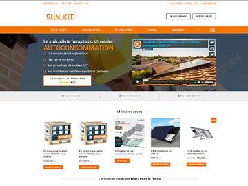 Créations site de vente en ligne de kits autoconsommation solaire