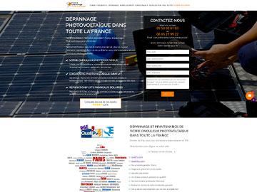 Création site dépannage photovoltaique en France