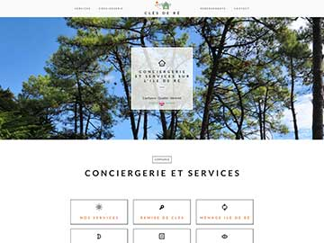 Création site Internet Conciergerie Ile de Ré