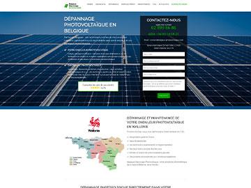 Création site Internet dépannage photovoltaique en Belgique