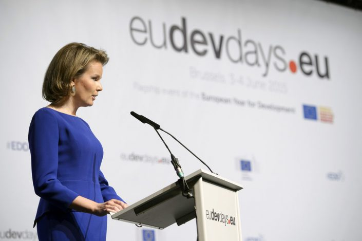 habillage stand -European Development Days - EDD - Education - Right to quality education - HM Mathilde , Queen of the Belgians © European Union