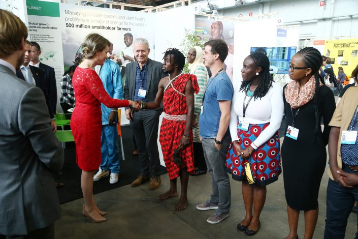 eudevdays - Village EDD - Visit of H.M. Queen Mathilde of the Belgians